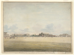 South view of the Council House and Government House Calcutta